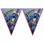Superman Üçgen Bayrak Set Lisanslı