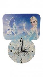 Dekoratif Baskı Elsa Prenses Çocuk Odası Duvar Saati
