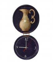 Testi Sürahi Figürlü Dekoratif El Yapımı Duvar Saati