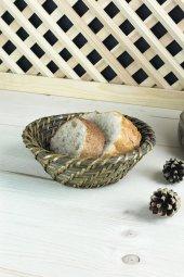 Rattan Hasırı Ekmek Sepeti Yuvarlak S