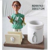 Bayan Diş Hekimi Masa Seti Kalemlik Kartvizitlik