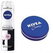 Nivea Invisible Blackwhite Clear Spray Deodorant+krem 30ml Hediye
