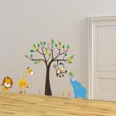 Dekorloft Zürafa Ve Orman Arkadaşları Çocuk Odası Duvar Sticker C