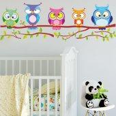 Dekorloft Baykuşlar Çocuk Odası Duvar Sticker Cs 222