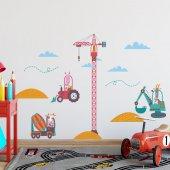 Dekorloft Şantiye Çocuk Odası Duvar Sticker Cs 275