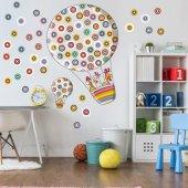 Dekorloft Benekli Uçan Balon Çocuk Odası Duvar Sticker Cs 306