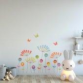 Dekorloft Mutlu Çiçekler Çocuk Odası Duvar Sticker Cs 307