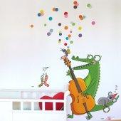 Dekorloft Yaramaz Müzikci Timsah Çocuk Odası Duvar Sticker Cs 340