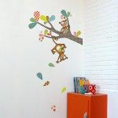 Dekorloft Yaramaz Maymunlar Çocuk Odası Duvar Sticker Cs 337