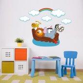 Dekorloft Sevimli Hayvan Teknesi Çocuk Odası Sticker Cs 528