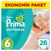 Prima Bebek Bezi Aktif Bebek Ekonomik Paketi 6 Beden 26 Adet