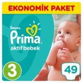 Prima Bebek Bezi Aktif Bebek Ekonomik Paketi 3 Beden 49 Adet