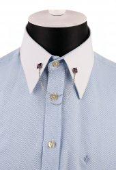 Mor Taşlı Zincirli Kelebek Model Gömlek Yaka İğnesi Gı142