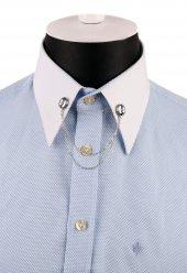 Gümüş Renk Zincirli Gömlek Yaka İğnesi Gı159