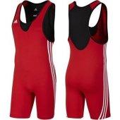 Adidas Base Wrestler Men New Güreş Mayosu Red V13837