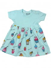 Nnk Baby Dondurma Baskılı Elbise 3 6 9 12 18 Ay