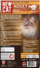 Newcat, Kedi Maması, 1 Kg Açık Taze Ucuz Lezzetli, Tavuklu Mama, Pet