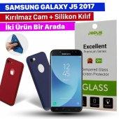 Jopus Samsung J5 2017 Kılıf + Temperli Kırılmaz Cam Ekran Koruyucu