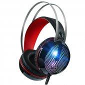 Tigoes G6 Ledli Oyunculara Özel Mikrofonlu Kulaklık Siyah