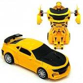 Tek Tuşla Robota Dönüşen Bumblebee Çek Bırak Oyuncak Araba