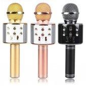 Wster Ws 858 Orjinal Bluetooth Karaoke Mikrofon Usb Sd Kart Radyo Rosegold Rengi