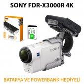 Sony Fdr X3000r 4k Aksiyon Kamera Batarya Powerbank Ve Aka Fgp1 H
