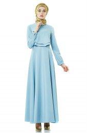 2nıq Kloş Abiye Elbise Aqua Pn8079 20