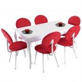 Evform Lusso S 6 Kişilik Salon Mutfak Masa Sandalye Takımı Tango