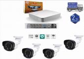 4 Kanal Dvr Cihazı+ 4 Cn 2022 Fullhd Kamera