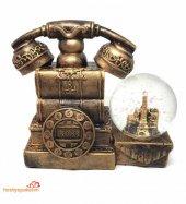 Nostaljik Telefon Görünümlü Büyük Boy Müzikli Kar Küresi