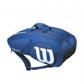 Wilson Team Iı 12 Tenis Çantası Wrz852612 Navy Blue