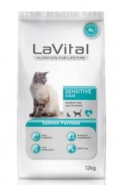 La Vital Cat Adult Sensitive Somon Balikli Yetişkin Kedi Mamasi 1