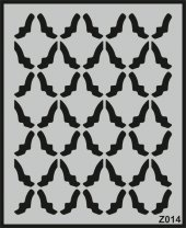 Z014 Duvar Stencil Şablon 60cm X 50cm