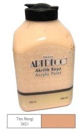Artdeco 500ml 3651 Ten Rengi Yeni Formül Akrilik Boya