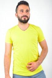 V Yaka Sarı Tshirt
