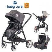 Baby Care Bc 650 Prestige Alüminyum Travel Sistem Bebek Arabası Siyah (Portbebe Yatak Özelliği)