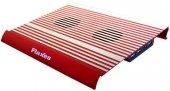 Flaxes Fn 3333k Alüminyum 7 17 Sessiz Çift Fanlı Kırmızı Notebook Soğutucu