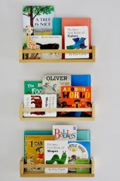 Ceebebek Ahşap Duvar Raf Bebek Çocuk Odası Montessori Kitaplık 3nat40 Ücretsiz Kargo