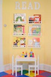Ceebebek Ahşap Duvar Raf Bebek Çocuk Odası Montessori Beyaz Kitaplık 6byz40 Ücretsiz Kargo
