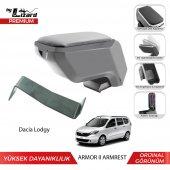 Bylizard Dacia Lodgy Delmesiz Çelik Ayaklı Armor 2 Kolçak Kol Dayama Gri