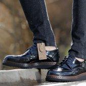 Conteyner 110 Rugan Siyah Erkek Ayakkabı