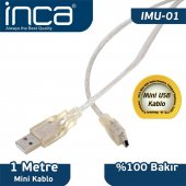 ınca Imu 01 Usb To Mini Usb 2.0 1mt Kablo (Blister)