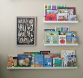 Ceebebek Ahşap Duvar Raf Bebek Çocuk Odası Montessori Beyaz Kitaplık 2l401l80