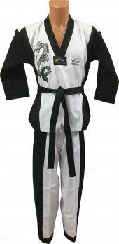 Premium 2018 Mens Siyah Yaka Taekwondo Elbisesi