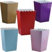Mısır Kutusu 25 Li Popcorn Kutusu 4 Renk Seçeneği
