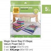 Magıc Saver Bag 5 Li Bagaj Vakumlu Poşet Seti 3