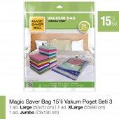 Magıc Saver Bag 15li Vakumlu Poşet Seti 3