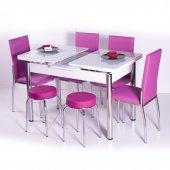 Camlı Açılır Masa Sandalye Takımı Mutfak Masası Masa