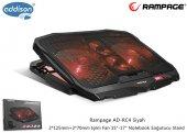 Addison Rampage Ad Rc4 Siyah 2*125mm+2*70mm Işıklı Fan 15 17 Notebook Soğutucu Stand
