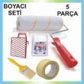 5 Parça Boyacı Seti Fırça Rulo Izgara Kağıt Bant Örtü